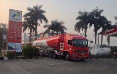 Pertamina Truck. Fuel refill.