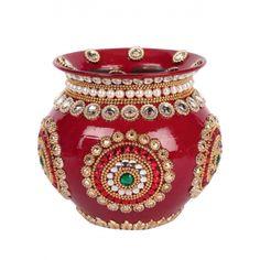 Rajasthani Decorated Copper kalash