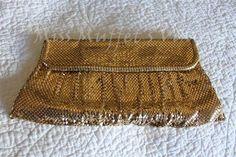 Whiting Davis Vintage Gold Metal Mesh Clutch Purse Bag Handbag 1930's 1940'S | eBay