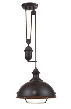 chandelier with pully | HomeThangs.Com Introduces A Guide To Industrial Style Pulley Lights