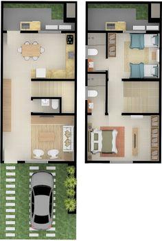 Tiny House Layout, House Layout Plans, Duplex House Plans, Floor Plan Layout, House Layouts, House Floor Plans, Home Design Floor Plans, Home Building Design, Building A House