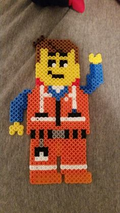 Emmet - The Lego Movie perler beads