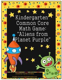 Kindergarten Common Core: Alien Math Game