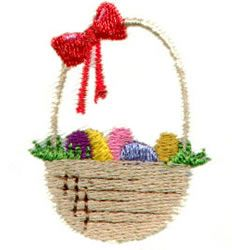 Pinnacle Embroidery Patterns Embroidery Design: Easter Basket 1.77 inches H x 1.41 inches W