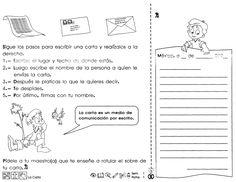 """La carta """"tercer grado"""". Ficha de trabajo con pasos para escribir una carta, ideal para trabajar con niños de tercer grado de educación primaria. Dual Language, Speech And Language, Language Arts, Class Games, Writing Workshop, Teaching Writing, Interactive Notebooks, My Job, Third Grade"""