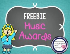 FREE printer-friendly music awards. Perfect for ensembles at the end of the year or for individual students/classes throughout the year