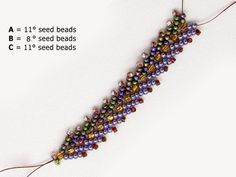 LEARN the Double St. Free Bead Patterns and Ideas : Double St. Petersburg Chain Bead stitch - Learn how Free Beading Tutorials, Beading Patterns Free, Beaded Jewelry Patterns, Weaving Patterns, Bracelet Patterns, Bead Patterns, Seed Bead Jewelry, Seed Beads, Diy