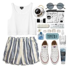 """""""Fascination"""" by cjcstyle ❤ liked on Polyvore featuring Madewell, Converse, Monki, Torre & Tagus, Korres, Oliver Peoples, Rebecca Minkoff and Smashbox"""