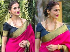 Makeup For Pink Silk Saree