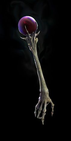 Scepter of chaos. Or originally just used for creating Shadows as just a white handle but eventually used to create Undead thus going from a white handle into a skeleton hand handle Anime Weapons, Fantasy Weapons, Fantasy Rpg, Fantasy World, Weapon Concept Art, Wow Art, Fantasy Inspiration, Character Inspiration, Gothic Fantasy Art