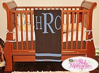 Monogrammed Knit Blanket from The Pink Monogram