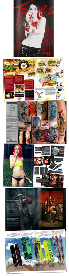 Traszz Magazine by Łukasz Pach, via Behance #alternative  #editorial  #magazine  #art  #design
