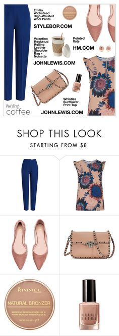 """But first, coffee..."" by shambala-379 ❤ liked on Polyvore featuring Emilia Wickstead, Whistles, Valentino, Rimmel, Bobbi Brown Cosmetics, Monica Vinader, polyvoreeditorial, polyvorecontest and coffeebreak"