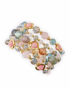 Multi-Stone Bracelet, Pink/Multi by Jose & Maria Barrera at Neiman Marcus.