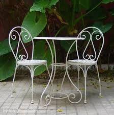 juego de mesa de hierro forjado con venecitas-banquitos ...