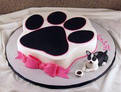 oreo+the+dog+-+buttercream+cake+with+fondant+modeled+dog+and+food+bowl.
