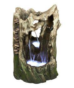 Look at this #zulilyfind! Tree Trunk Rain Forest Fountain #zulilyfinds