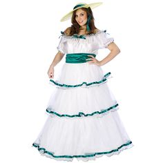 Southern Belle Adult Plus Women's Costume