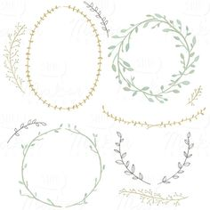 Wreaths & Laurels Watercolor Clip Art Digital by ShhMakerDesign Web Design, Graphic Design, Webdesign Inspiration, Artsy Fartsy, Design Elements, Stencil, How To Draw Hands, Illustration Art, Creations