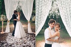 Lace wedding arch