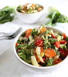 Bok Choy Salad...yummy and super easy to put together.