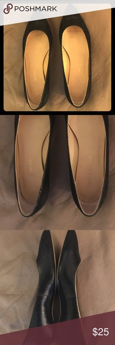 Ivanka Trump Chic 4 Flats Black suede slip ons, these are wide width Ivanka Trump Shoes Flats & Loafers