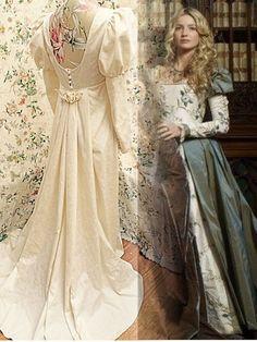 vintage LAURA ASHLEY ivory REGENCY WEDDING dress GOWN