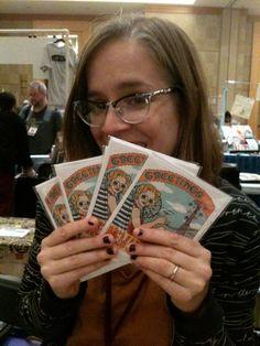 Ellen Lindner creator of Black Feather Falls comics at SPX 2014 www.littlewhitebird.com #SPX #SmallPressExpo #SPX2014 #IndieComics #Comics #IndependentPress #MicroPress #BookArts #Art #Illustration #EllenLindner #BlackFeatherFalls