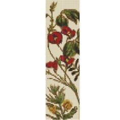 More Flowers bracelet, a pattern for looms or peyote