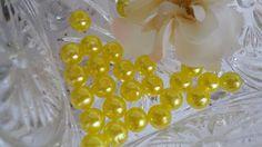 Perola ABS amarela 8mm