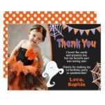 Halloween Birthday Thank You Card with Photo #halloween #happyhalloween #halloweenparty #halloweenmakeup #halloweencostume