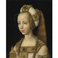 THE PROPERTY OF A LADY SOUTH NETHERLANDISH SCHOOL, CIRCA 1500 PORTRAIT OF A YOUNG WOMAN, PROBABLY MARY OF BURGUNDY, BUST LENGTH, IN THE GUISE OF ST. MARY MAGDALENE.   Sotheby's (The estimate for this panel was c. $125,000 usd; sold for almost $1.7 million)