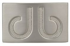 DB Original Silver Buckle by Druh Belts.  Buy it @ ReadyGolf.com