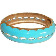 Vintage Hinged Bangle Bracelet --- Vintage jewelry found at www.rubylane.com @rubylanecom