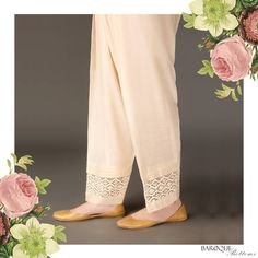 Lets go traditional! ❤😍 Get yourself the classic shalwar from www. Pakistani Formal Dresses, Pakistani Fashion Casual, Pakistani Outfits, Indian Dresses, Women's Fashion Leggings, Fashion Pants, Fashion Dresses, Salwar Designs, Blouse Designs