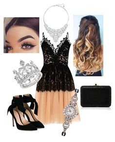 """#CUTE"" by biankaradacovska ❤ liked on Polyvore featuring beauty, True Decadence, Gianvito Rossi, Judith Leiber, Swarovski and Tissot"