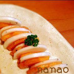 さかぽんさん♡このレシピ最高ですっ‼ そのまま柿は食べないダンナの箸が…進んでたぁ(*>U<*) この季節のヘビロテメニュー決定ですっ‼人気レシピな訳だぁ〜〜 ( v^-゚)Thanksですっ♪ - 27件のもぐもぐ - さかぽんさんのぉ〜‼ 簡単4分‼柿と蕪のシンプルサラダ‼ by ナナオ