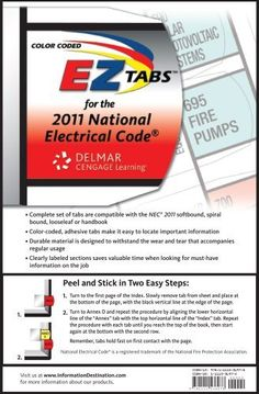 69 best professional and technical images on pinterest bestseller color coded ez tabs for the 2011 national electrical code fandeluxe Gallery