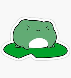Frog stickers featuring millions of original designs created by independent artists. 4 sizes available. Anime Stickers, Kawaii Stickers, Cool Stickers, Printable Stickers, Sapo Meme, Image Deco, Frog Drawing, Frog Art, Cute Frogs
