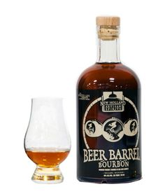 You've heard of Bourbon barrel aged beers before, but New Holland Beer Barrel Bourbon takes it one step further!  After New Holland uses Bourbon barrels to age their Dragon's Milk stout, they reuse them again to age their bourbon.  This unique aging process creates a malty character like you've never tasted in a Bourbon before!