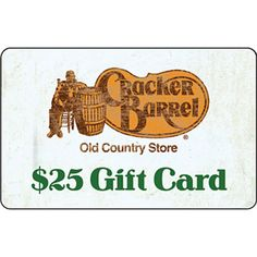 Cracker Barrel $25.00 Gift Card #CrackerBarrel
