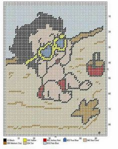 BABY BETTY BOOP AT THE BEACH -- WALL HANGING