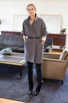 Topper Coat - Grey | Emerson Fry