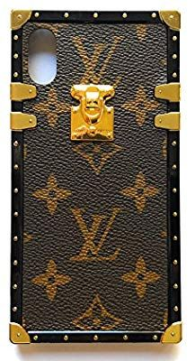 28c49c0d67b28 Amazon.com  Vintage trunk luxury monogram for iphone. Handmade with premium  silicone.