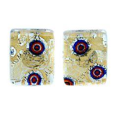 Murano Cufflinks ▷ 5.5£ | Dealsan Sterling Silver Cufflinks, Murano Glass, Blue