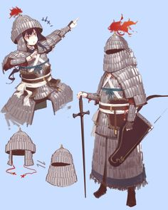 Safebooru is a anime and manga picture search engine, images are being updated hourly. Female Character Design, Character Design Inspiration, Character Concept, Character Art, Character Sheet, Medieval Art, Medieval Fantasy, Armor Concept, Concept Art