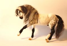 Horse sculpture Needle Felting horse art Andalusian grey horse felted OOAK  equestrian art Made to ORDER