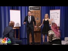 ▶ Pictionary with Kristen Bell, Steve Harvey and Demi Lovato - Part 1 - YouTube