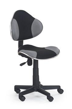 FLASH obrotowy fotel młodzieżowy czarno-popielaty - producent Halmar Chair, Furniture, Home Decor, Products, Decoration Home, Room Decor, Home Furnishings, Chairs, Arredamento