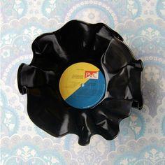 Vinylskål/LP redesign GUL/BLÅ Gul, Retro, Retro Illustration